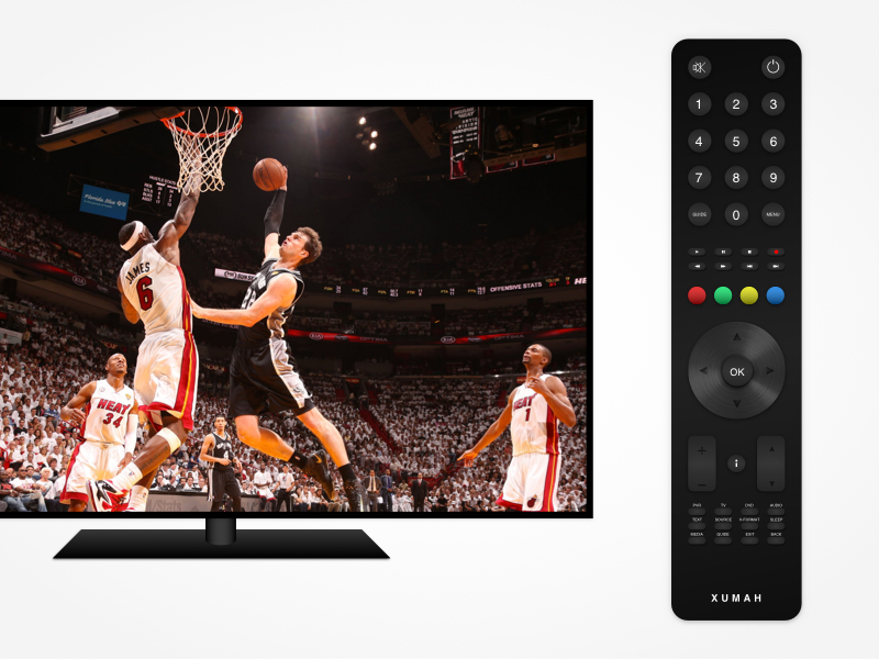 TV and Remote Mockup