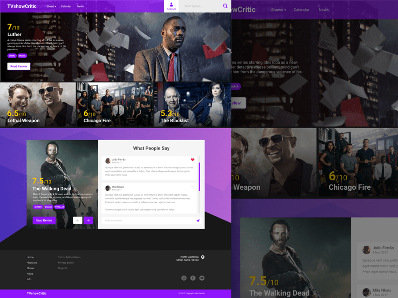 TV Show Landing Page