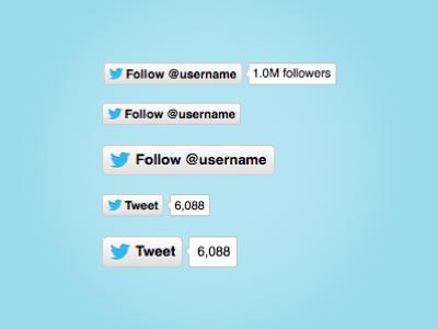 twitter follow button vector