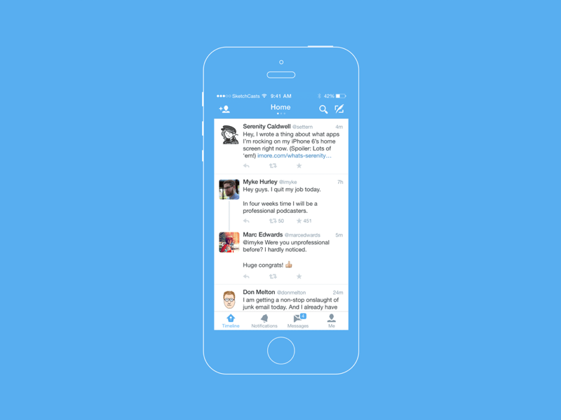 Twitter for iOS Sketch freebie - Download free resource for Sketch ...