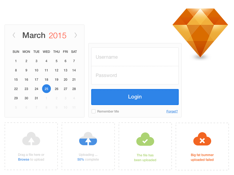 UI Elements Sketch freebie - Download free resource for Sketch ...