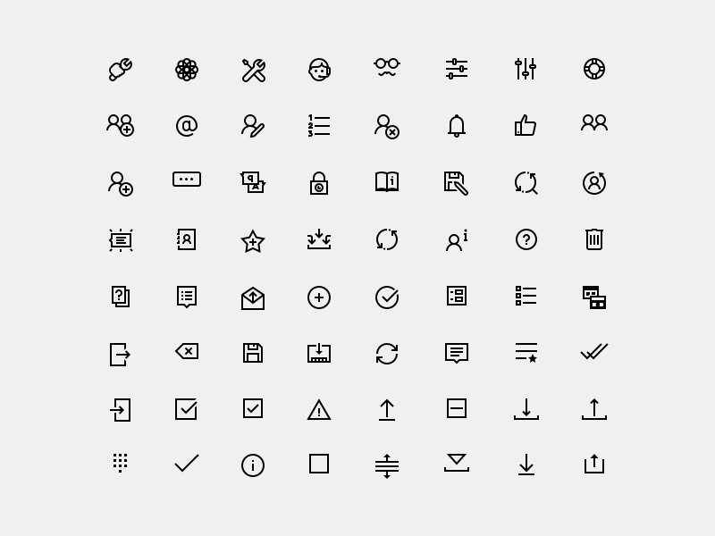 UI Icons in Windows 10 Style Sketch freebie - Download free resource