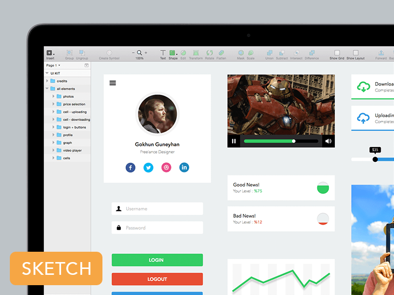 UI Kit For Web And Mobile Sketch Freebie - Download Free Resource For Sketch - Sketch App Sources