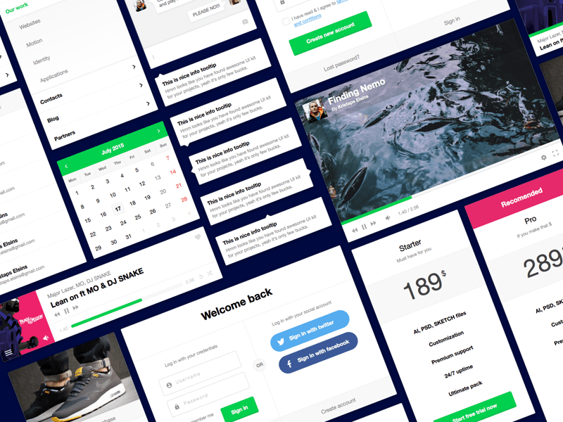 Flexible UI Kit