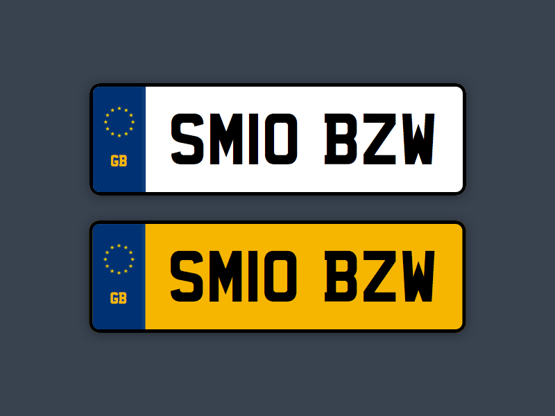 UK Car Registration Plates