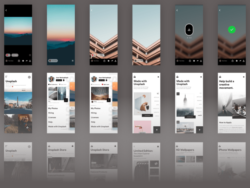 Unsplash iOS UI Kit