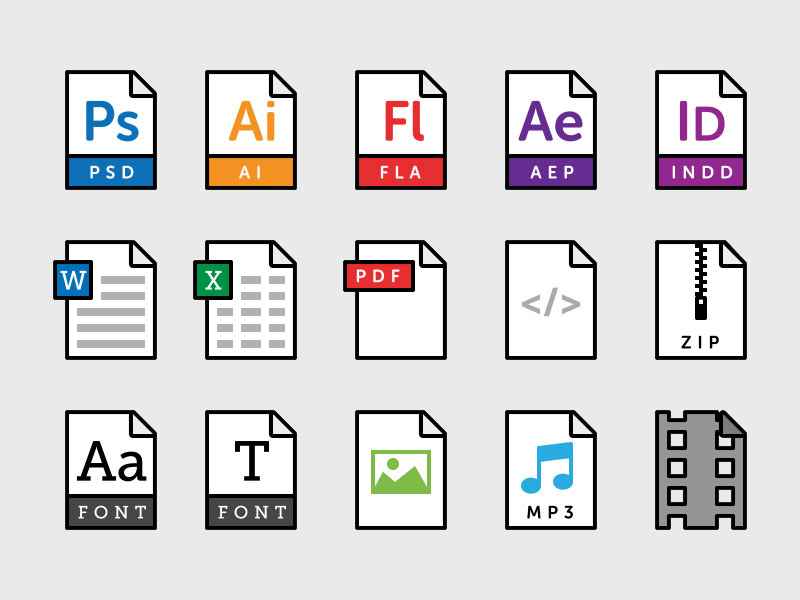 15 File Type Icons