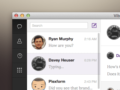 Viber for Mac Sketch freebie - Download free resource for Sketch
