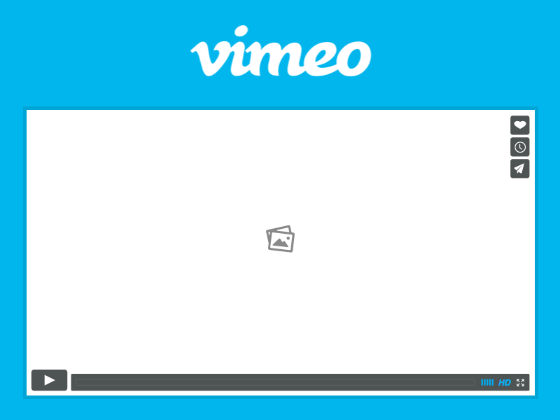 Vimeo Player Wireframe