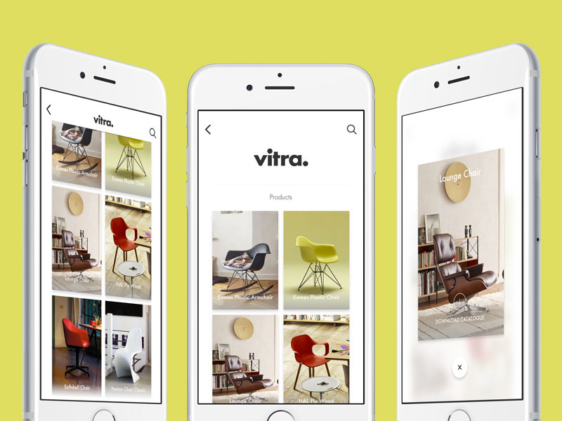 vitra gallery app and prototype - Prototype Ipad App