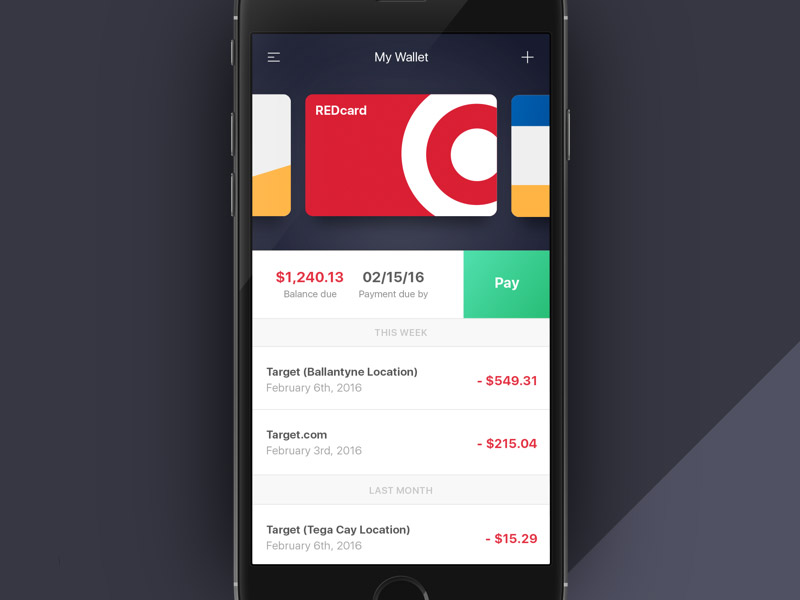 Wallet View Concept