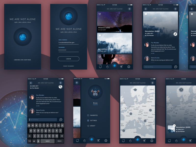 We Are Not Alone App Concept