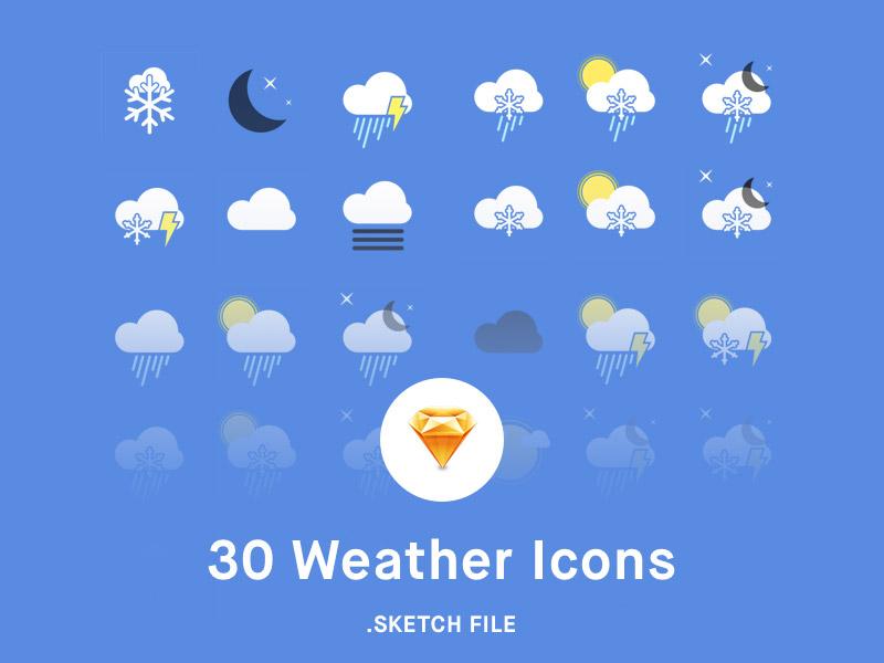 Weather Icon Pack Sketch Freebie Download Free Resource For Sketch