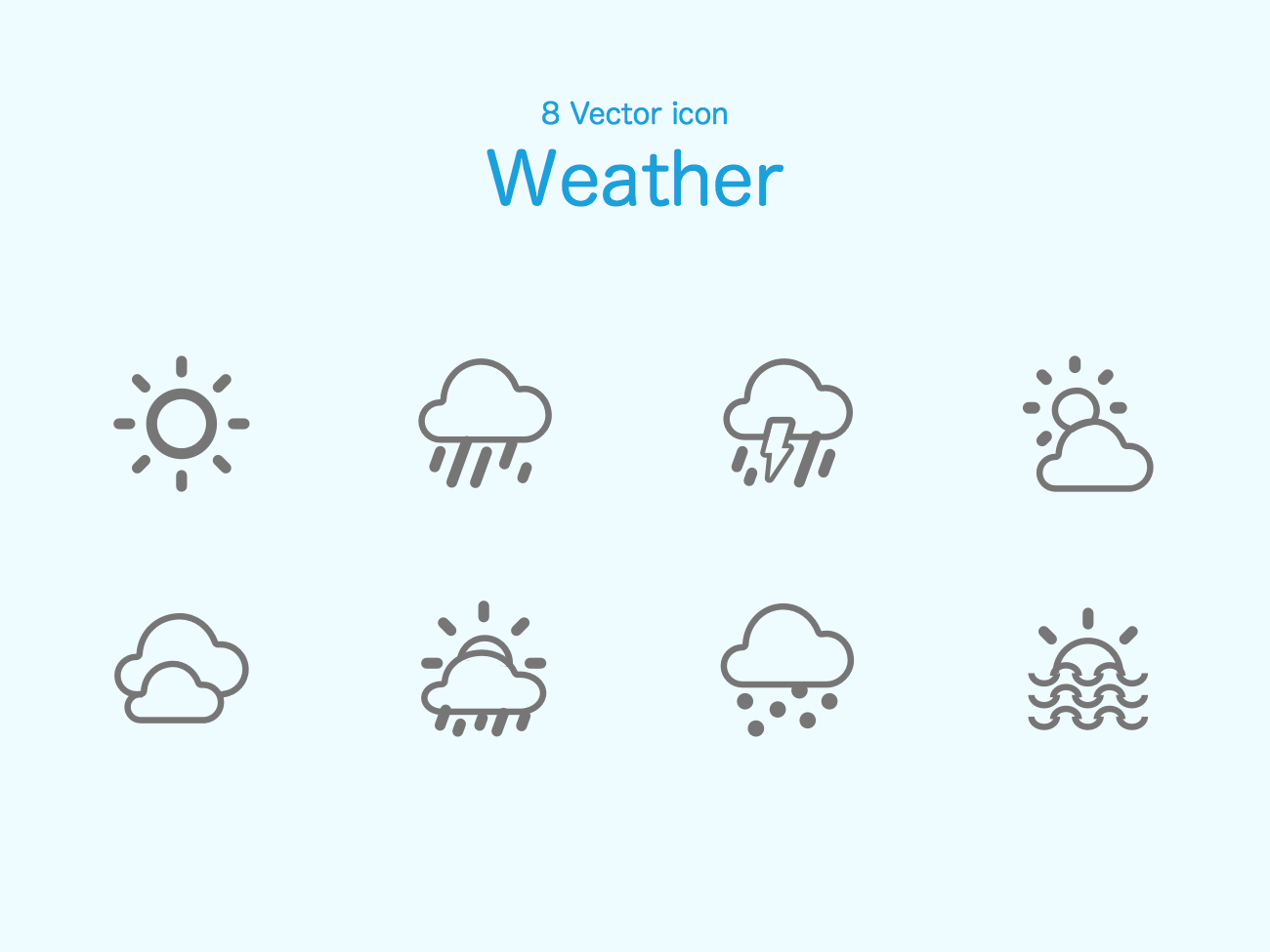 8 Weather Icons