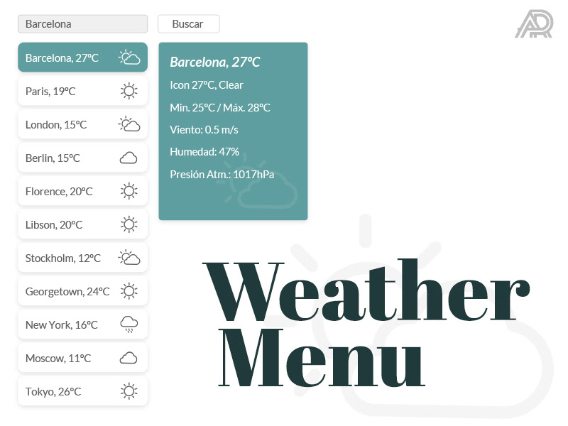 Weather Menu