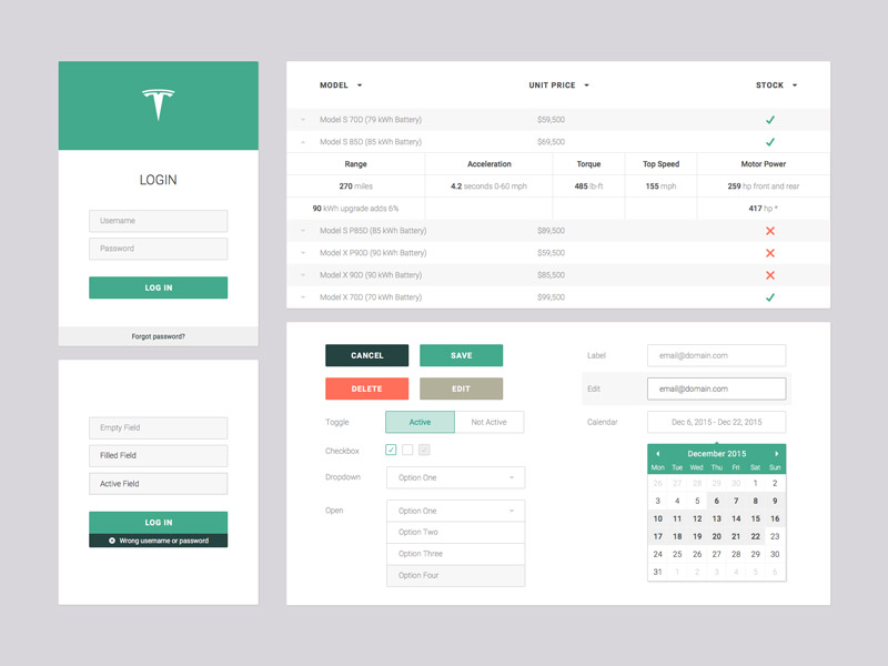Web App Ui Set Sketch Freebie Download Free Resource For