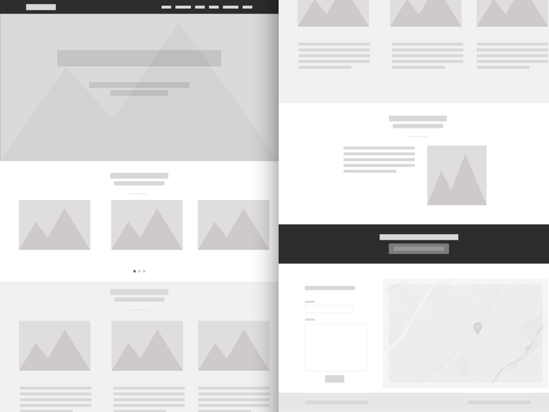 Sample Website Wireframe