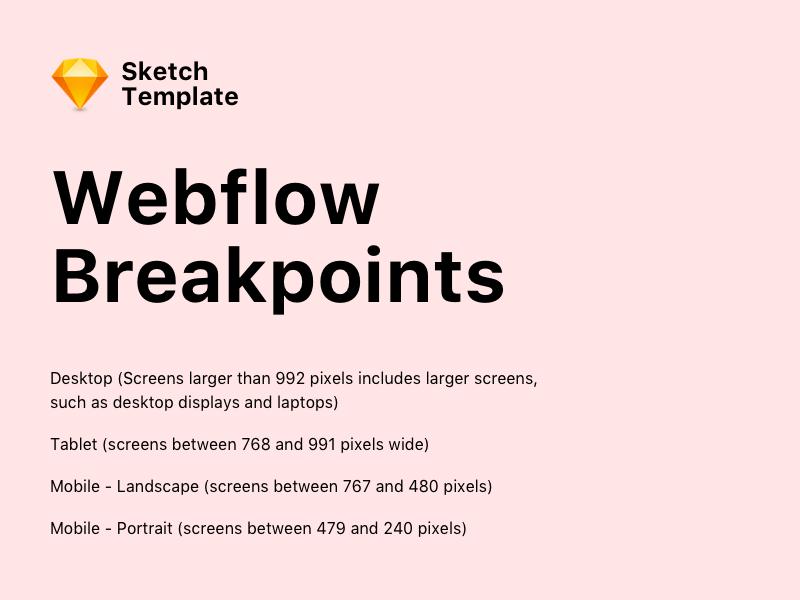 Webflow Breakpoints Template Sketch freebie - Download free