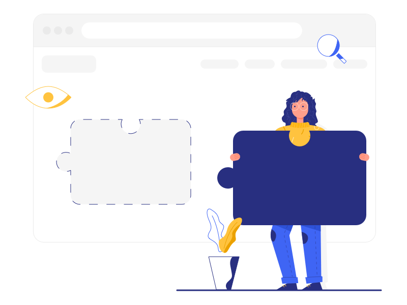 Website Building Illustration