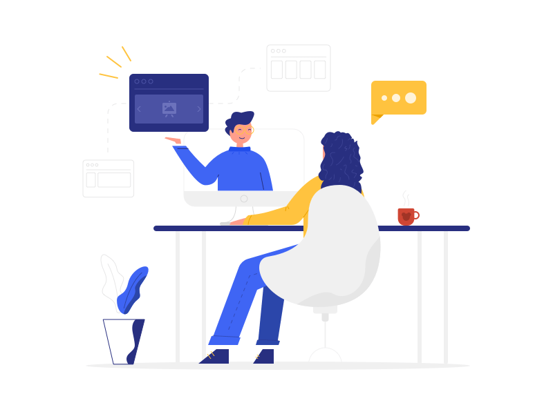Website Consulting Illustration