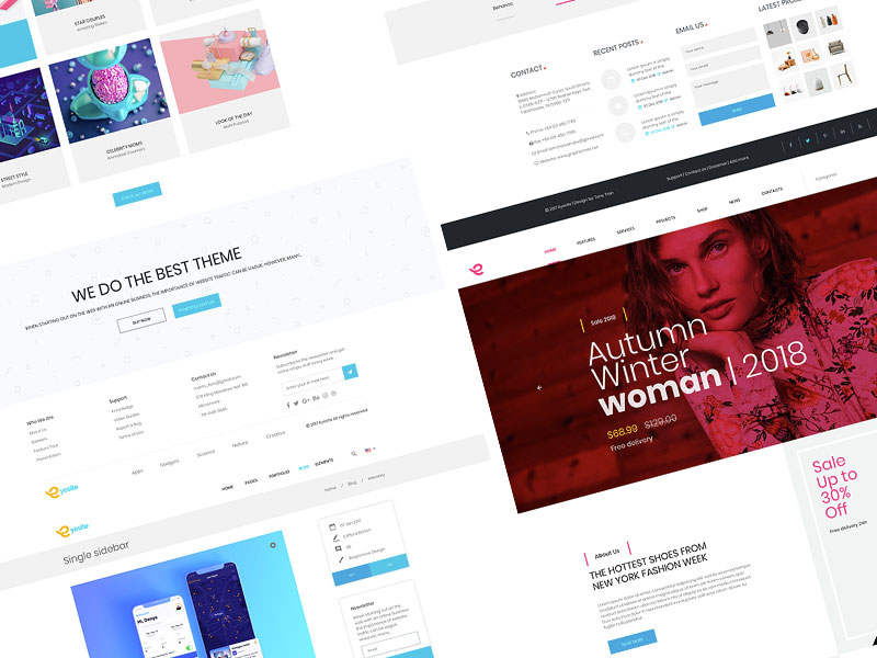 Web Landing Page Components