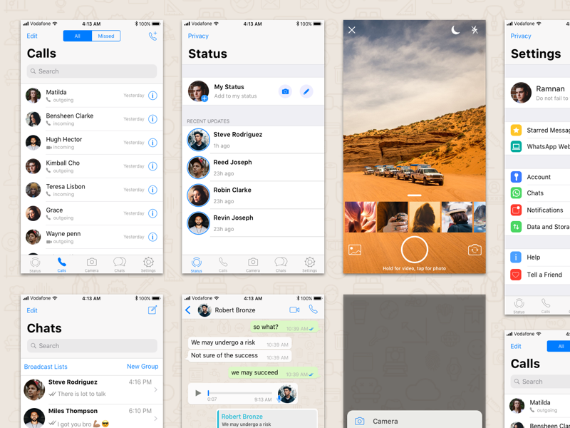 Whatsapp Ios 11 Sketch Freebie Download Free Resource For Sketch