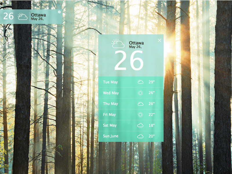 Desktop Weather Widget