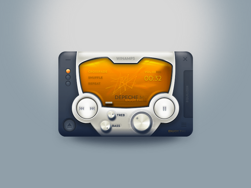Custom Winamp Skin Template