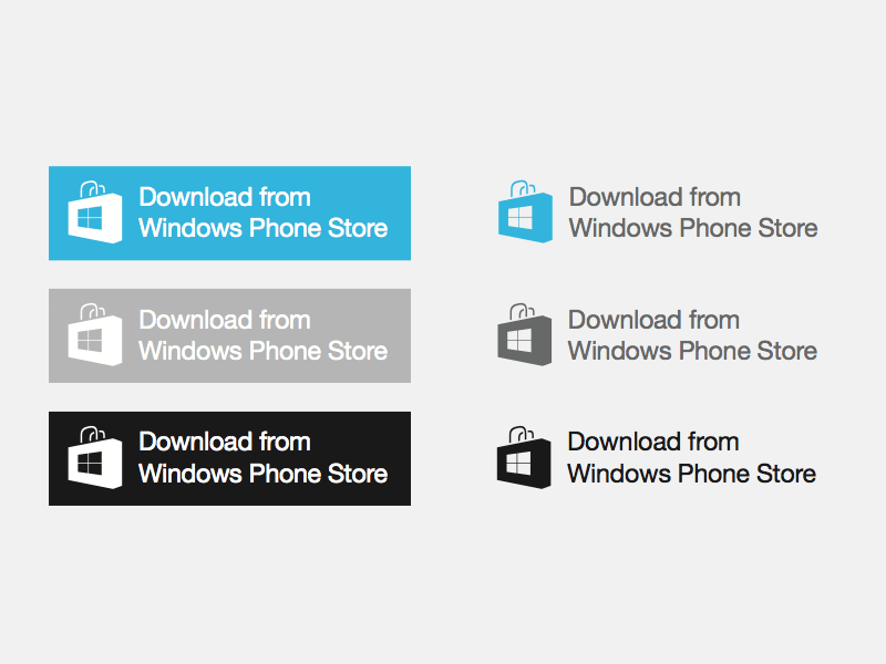 Windows Phone Store Badges