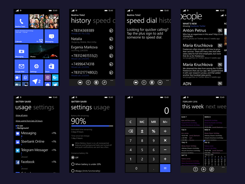 Windows Phone 8.1 UI Kit