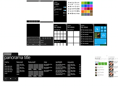 Windows Phone UI template