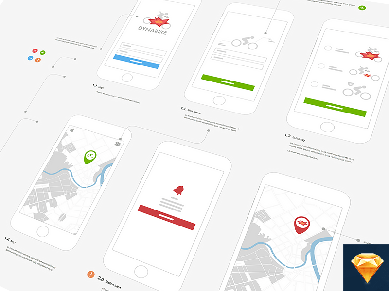 IPhone Wireframe Template Sketch Freebie