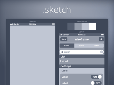 Wireframe iPhone DarkBlue