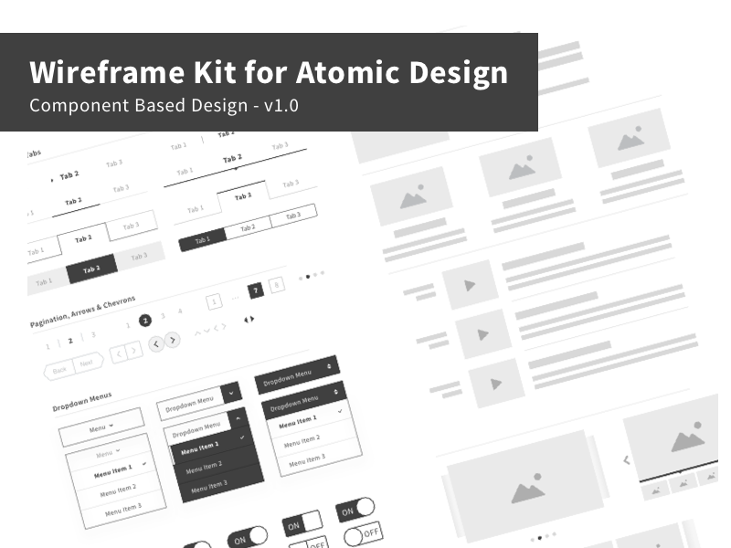 Wireframe Kit for Atomic Design
