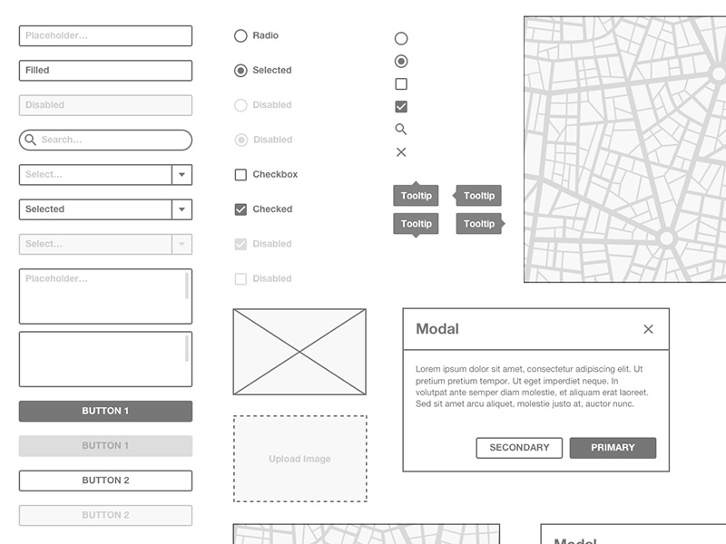 Basic Wireframe Kit Sketch Freebie