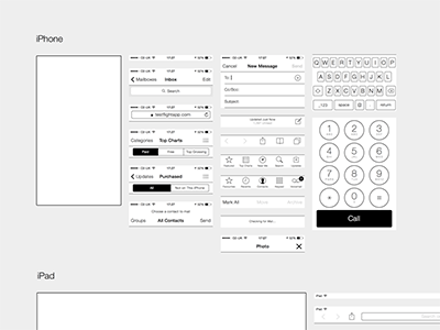 iphone and ipad sketch wireframing kit - Wireframe Ipad