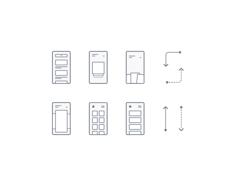 Wireframe Flow Icons