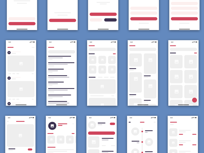 15 eCommerce Wireframe Views