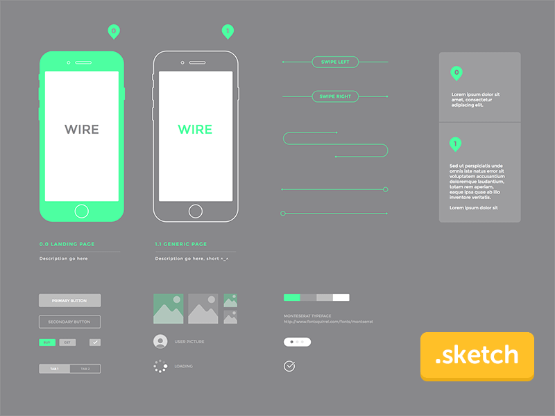 Wireframe Kit for iPhone 6