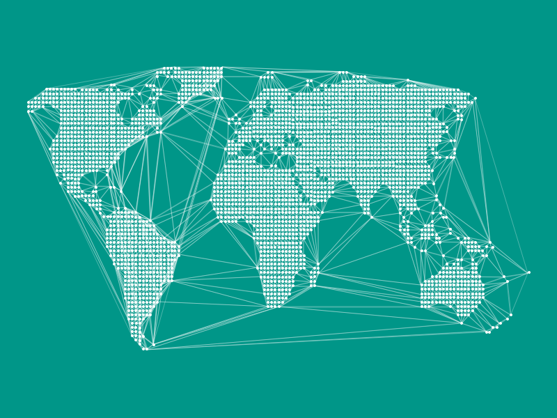 World dotted map and connected lines sketch freebie download free world dotted map gumiabroncs Image collections