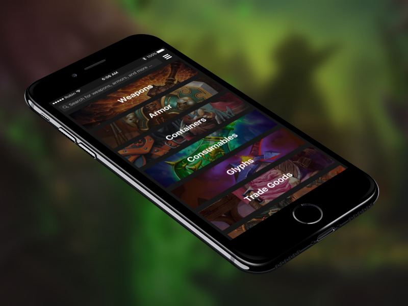 World of Warcraft Database App