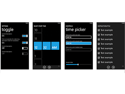 Windows Phone UI kit