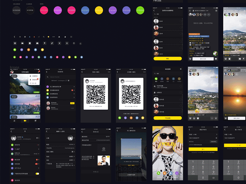 YOLO Black UI Kit Sketch freebie - Download free resource