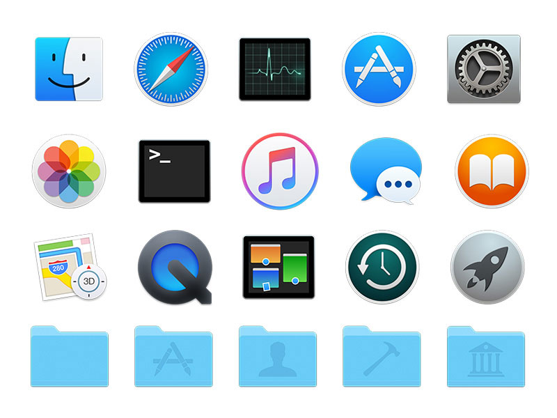 Yosemite Icons Pack Sketch freebie - Download free ...