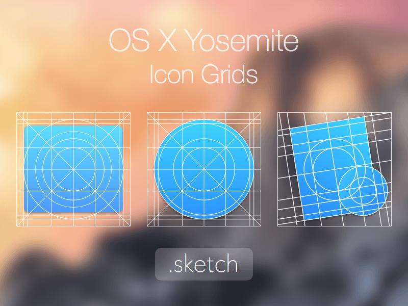os x icon grid sketch freebie