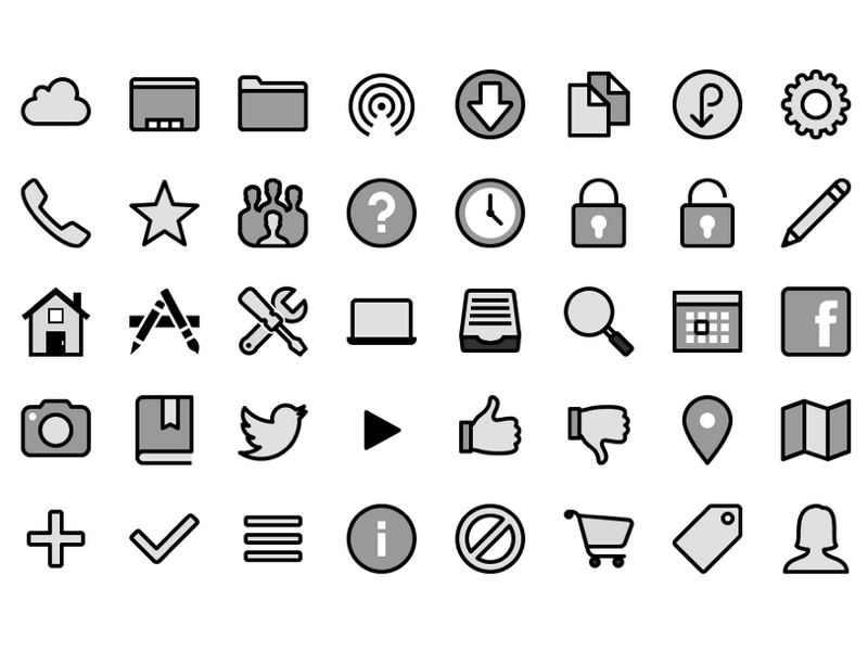 Yosemite Icon Pack Free PNG and SVG Icons SVG freebie - Download