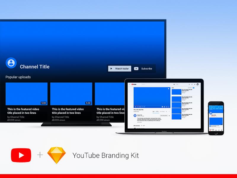 YouTube Branding Kit Sketch freebie - Download free resource for