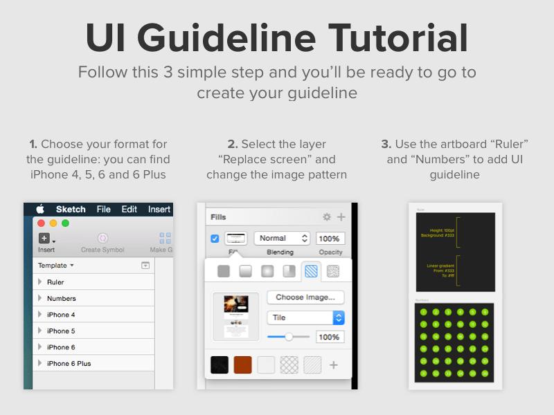 Ui Guideline Sketch Template Sketch Resource For Sketch