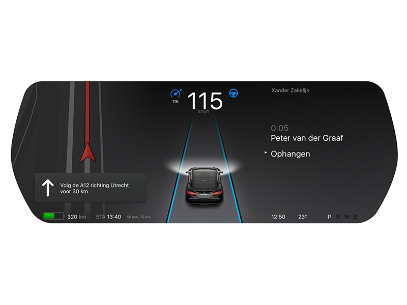 Tesla Car GUI