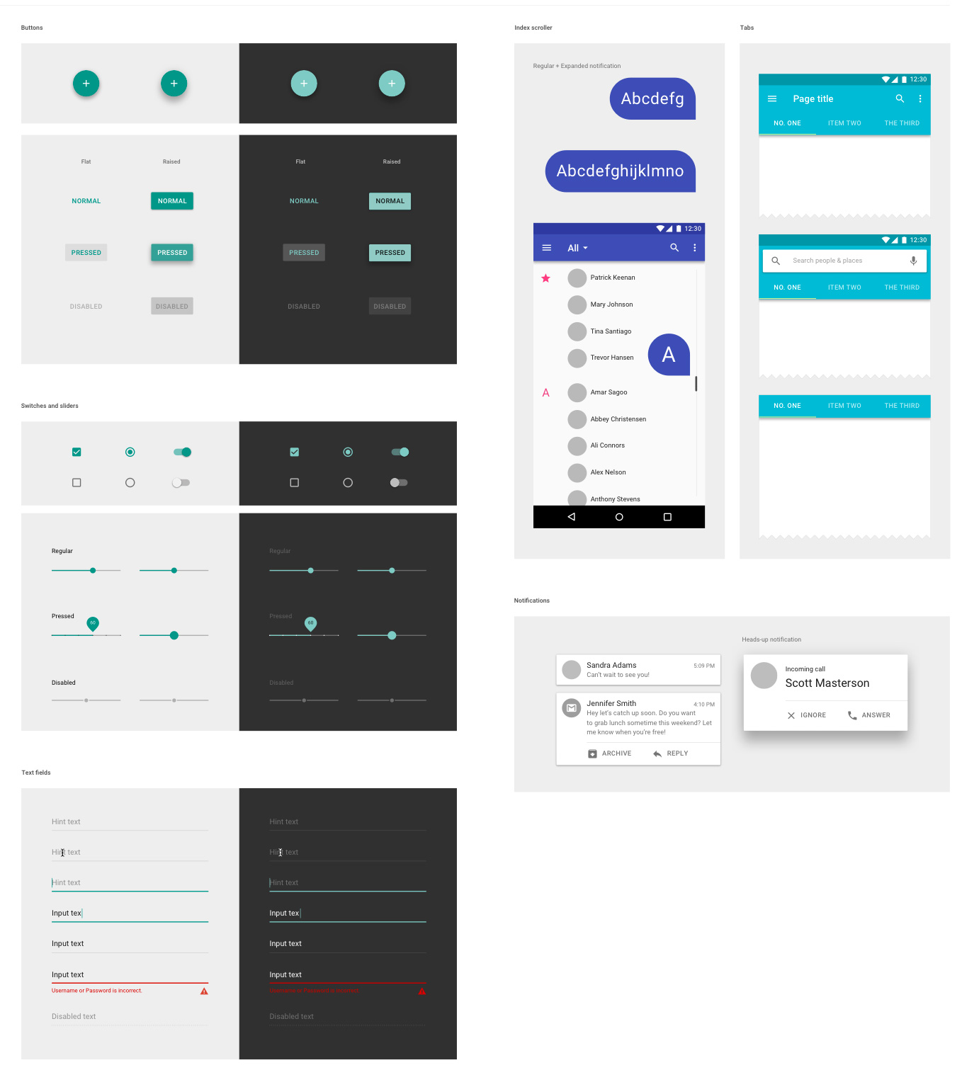 Google Material Design UI - Floating Action Buttons set Sketch ...